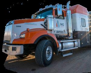 NG hydrovac truck